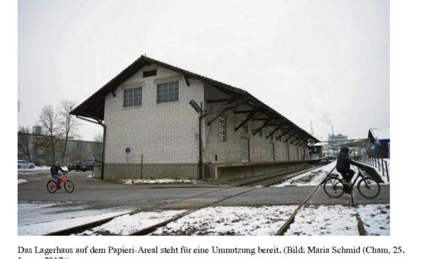 Zuger Zeitung – Sieben Bewerber wollen Papieri-Lagerhaus umnutzen